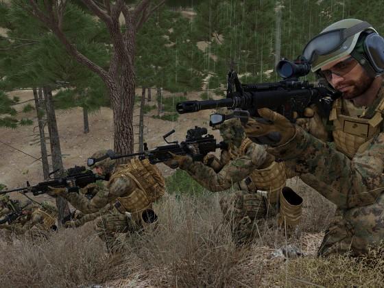 U.S Marines halten die Sicherung