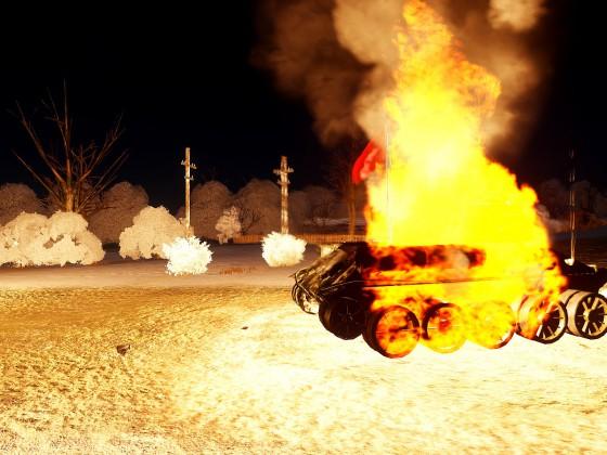 GEWONNEN! Die Schwarzwaldgipfel Mädchenschule hat Pravda's Flaggpanzer zerstört