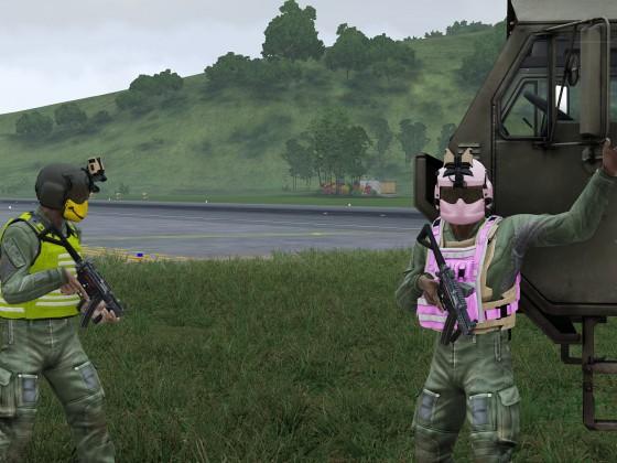 Unsere Piloten beim Aufmunitionieren