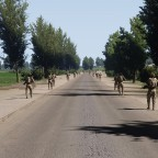 Wenn 62 Soldaten in Kompanie Reihe laufen...