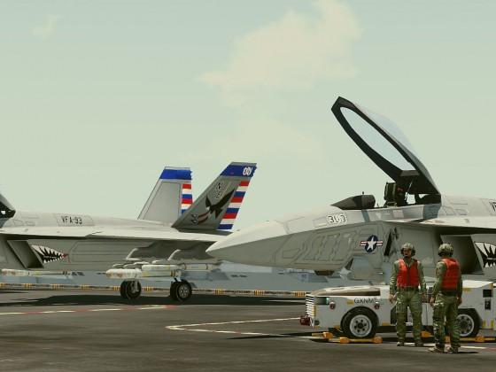 Flugzeugträger Crew