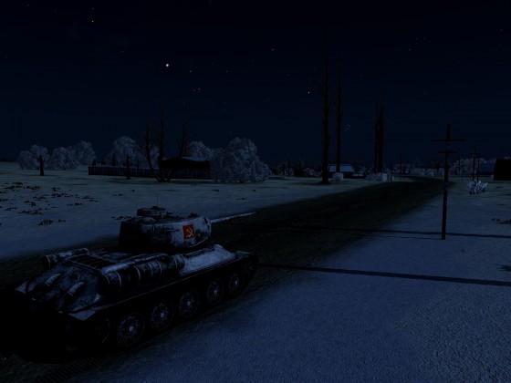 T-34-85 wartet auf seine unterstützung