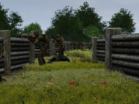 Position im Schützengraben