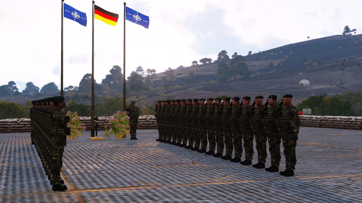 Militärische Ehren für einen Kameraden