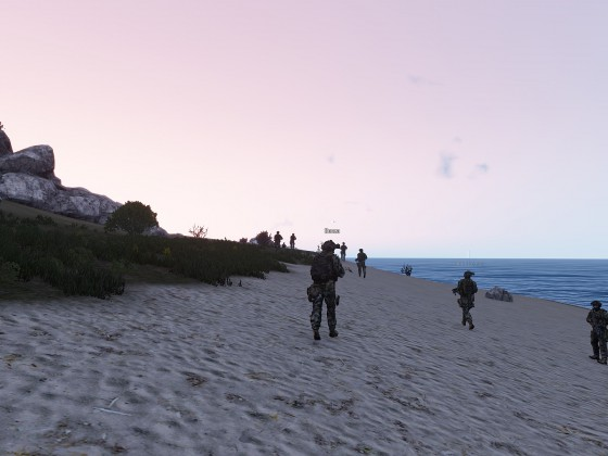 Lange Spaziergänge am Strand. [Op Seahorse]