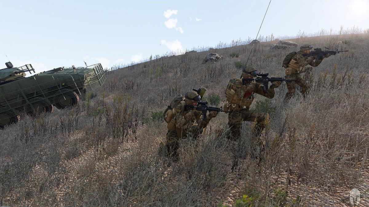 U.S Marines nehmen den Hügel