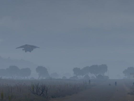 Nachschub im Nebel
