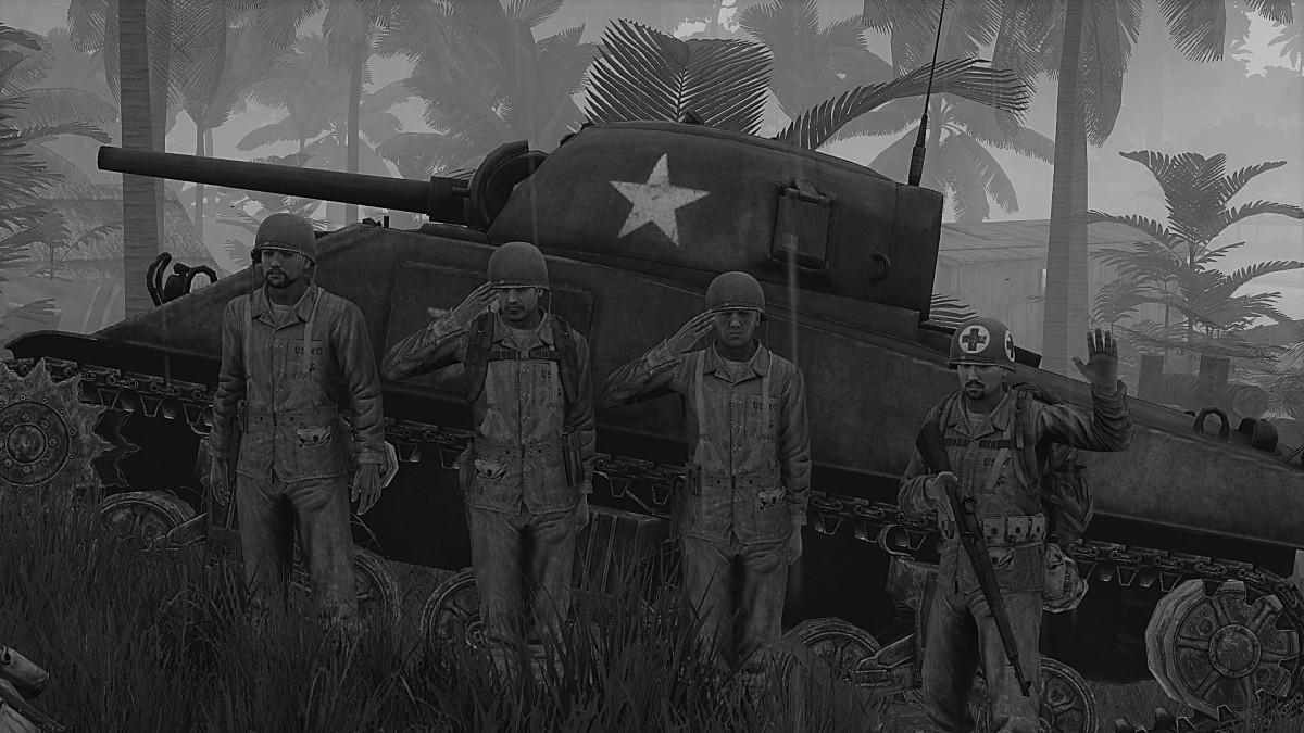 Tank Crew und der Sanitäter